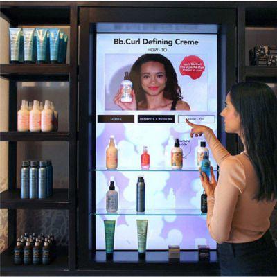 化妆品展示柜进军大型商场的要求