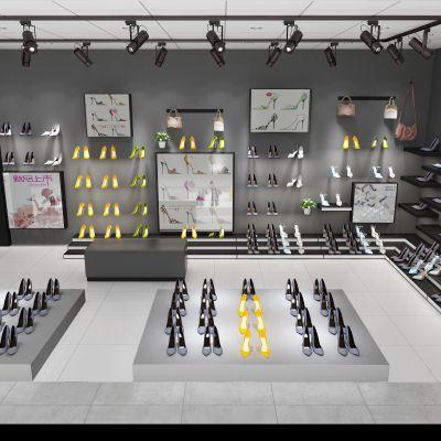 鞋子展示柜要跟店铺主题色调协调